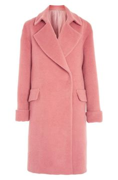 Pink Wool and Mohair Blend Coat