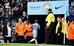 Jan. 2nd 2017: Manchester City 2 Burnley 1: The Brazil international Fernandinho runs down the Etihad Stadium tunnel after receiving his third red..