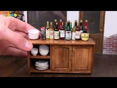 DIY Dollhouse items - Miniature Low Cupboard ミニチュアローカップボード作り - YouTube