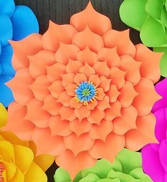 PDF paper flower template no.8 paper flower DIY Paper