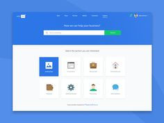 Support page design for Gotoweb dashboard