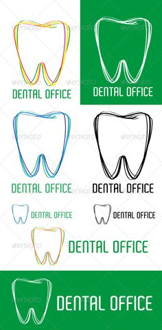 Dental Office Logo  #GraphicRiver          Logo for company which bussines is related to the teeth. You can change name of the company. Project include 2
