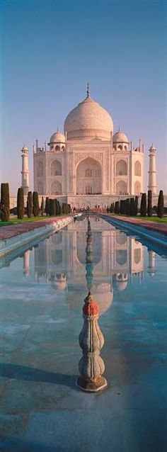 Facade of a Building, Taj Mahal, Agra, Uttar Pradesh, India Travel Photographic Print - 36 x 107 cm Places Around The World, Oh The Places You'll Go, Travel Around The World, Places To Travel, Places To Visit, Around The Worlds, Taj Mahal India, Wonderful Places, Beautiful Places