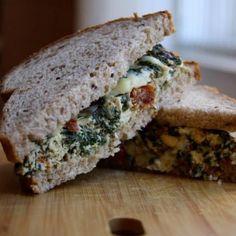 Sandwich Recipe: Frittata Sandwich - Healthy Lunch Recipes: Top 10 Sandwiches Under 300 Calories - Shape Magazine - Page 10