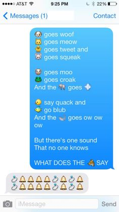 This is awesome! What does the fox say texts! Lol. I would never think to do this! OMG!