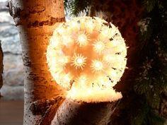 Dekoracyjna podświetlana kula - podaruj swemu mieszkaniu, tarasowi, balkonowi lub oknie nowy design.  #dekoracje #kula #hit