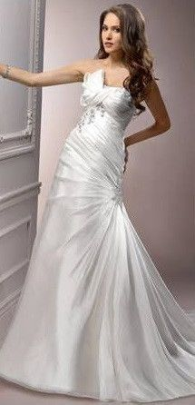 A line Organza Wedding Gown with Bow Detail