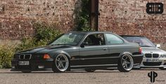 "Black BMW e36 coupe on super rare AC Schnitzer type 1 ""Racing"" wheels."