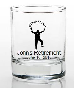 Retirement Favors Shot Glass Retirement Party Favors, Glass Votive Holders, Shot Glasses, Display Boxes, Ink Color, Party Gifts, Clear Glass, Shots, Dyi