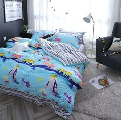 Character car plane bedding set adult teen child,cotton full queen colorful cartoon home textile bedsheet pillowcase quilt cover
