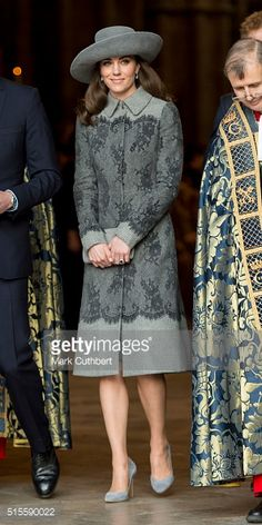 Catherine, Duchess of Cambridge attends the Commonwealth Observance Day Service on March 14, 2016 in London, United Kingdom. The service is the largest annual inter-faith gathering in the United...