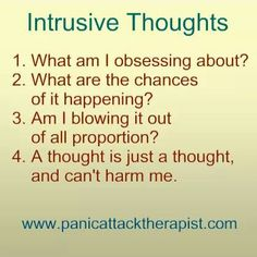Anxiety Disorder - learn the ability Recognise all Intrusive thoughts (CBT)
