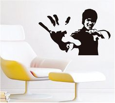 Instylewall Home Decoration Mural Vinyl Wall Sticker Celebrity Icons Kung Fu Star Bruce Lee Kids Nursery Room Wall Art Decal Paper ** You can find out more details at the link of the image.