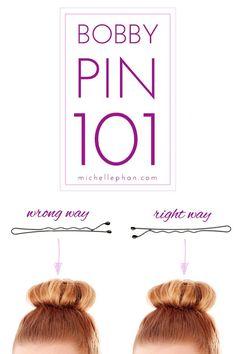 Bobby pin 101 ladies!! =D