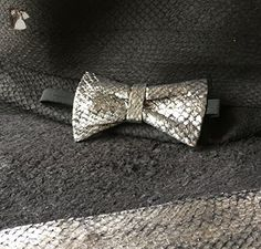 Fish Leather Bow Ties for men exotic leather bow ties - Groom fashion accessories (*Amazon Partner-Link)