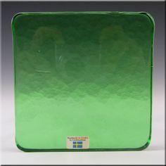 Lindshammar Swedish Green Glass Architectural Slab – Label - £14.99