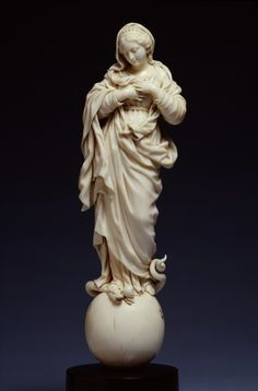 Virgin of the Immaculate Conception 1680-1710. Ivory Art Curator & Art Adviser. I am targeting the most exceptional art! See Catalog @ http://www.BusaccaGallery.com