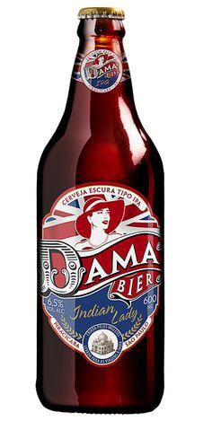 Cerveja Dama Indian Lady, estilo India Pale Ale (IPA), produzida por Dama Bier, Brasil. 6.5% ABV de álcool.