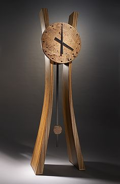 Passage in time. Brian Hubel. Quarter Sawn Zebrawood. Legs - Maple Burl Face  - Ebony Accents