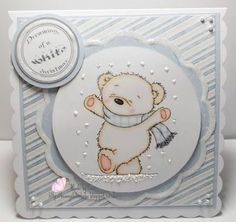 Welcome to Pennys Challenge 255 Our theme for you this week is Use something from your craft stash (don't forget to tell us what . Baby's First Christmas Card, Babies First Christmas, Craft Stash, Baby Cards, Welcome, Challenges, Paper Crafts, Stamp, Crafting