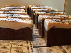 Chocolate Hazelnut coffee goats milk soap yum