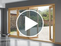 View our folding sliding patio door interactive demo