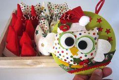 ♥♥♥ Natalinda ... a corujinha deste Natal! by sweetfelt  ideias em feltro, via Flickr