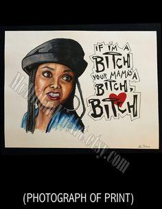 "Janet Jackson ""Poetic Justice"" movie quote art print"