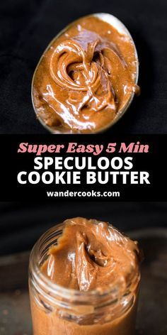 Just 5 ingredients and less than 5 minutes are all you need for your very own jar of liquid gold. This Easy Speculoos Spread Recipe is sweet, delicious and oh-so-satisfying, packed with caramelised gingerbread flavours in an easy to spread cookie butter. Speculoos Spread Recipe, Speculoos Cookie Butter, Butter Cookies Recipe, Dessert Games, Cooking Cookies, Favorite Cookie Recipe, Chicken Alfredo, Liquid Gold, Sugar Cravings