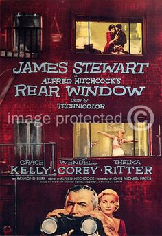 Alfred Hitchcock Movie Posters | Rear Window Vintage Alfred Hitchcock Movie Poster | eBay