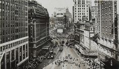 1930 TIMES SQUARE Vintage Photo Postcard PEPSODENT Chevrolet NYC ...