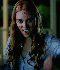 Deborah Ann Woll as Jessica Hamby from the HBO hit TV show called True Blood. Vampire Love, Female Vampire, Vampire Books, Vampire Girls, Vampire Art, True Blood Jessica, Serie True Blood, Jessica Hamby, Aquarius