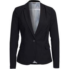 Vero Moda Vmroro Ls Blazer Noos ($52) ❤ liked on Polyvore featuring outerwear, jackets, blazers, black, coats, suit jackets & blazers, womens-fashion, vero moda jacket, tall jackets and vero moda