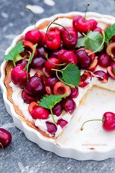 Cherry and Cream Tart Polish Recipes, Polish Food, Cherry Tart, Love Cake, Fabulous Foods, Food Styling, Delish, Food Photography, Sweets