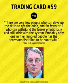 Trading Card #59: 1 in 500 People Have The Necessary Discipline To Be Successful