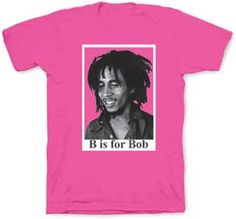 Bob Marley B is For Bob Toddler Tee : Pink - My Baby Rocks www.punkbabycloth... www.mybabyrocks.com #mybabyrocks #punkbabyclothes #baby