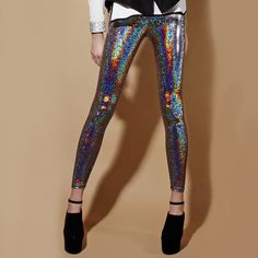 Fab.com | Iridescent Leggings Multi