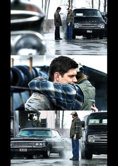 """""""This is the last Dean and Bobby will see of each other for a very long time. And, for the record, at this point next week, Bobby will be hunting a rugaru outside of Dayton. But not Dean. Dean didn't want Cas to save him. Every part of him, every fiber he's got, wants to die, or find a way to bring Sam back. But he isn't gonna do either. Because he made a promise."""" -Chuck"""