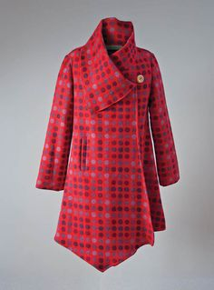 Draped coat Redberry front
