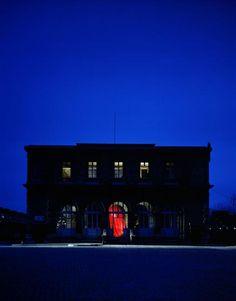 """""""Théâtre de la Villette, Paris, 1986"""". Charenton-le-Pont, Médiathèque de l'Architecture et du Patrimoine - Photo (C) Ministère de la Culture - Médiathèque du Patrimoine, Dist. RMN-Grand Palais / Daniel Boudinet"""