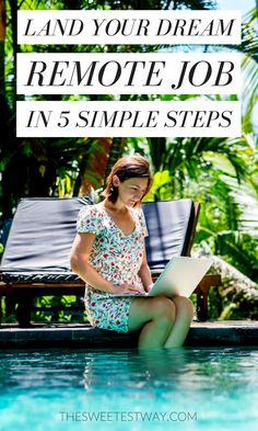 Find the remote job of your dreams and start your location independent lifestyle! Becoming a digital nomad is easier than ever. Fantastic tips here!!