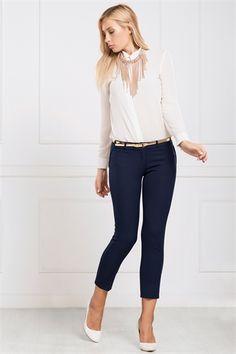 İRONİ DAR PAÇA LACİVERT PANTOLON Capri Pants, Style, Fashion, Swag, Moda, Capri Trousers, Fashion Styles, Fashion Illustrations, Outfits