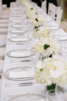 Dressed in fresh white florals and tons of natural greenery, this New York wedding captured by Brian Hatton Photography is filled with prettiness! White Wedding Decorations, Reception Decorations, Wedding Centerpieces, Centerpiece Ideas, Table Centerpieces, Mod Wedding, New York Wedding, Summer Wedding, Wedding Shit