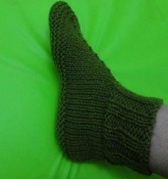 Sapato de tricô