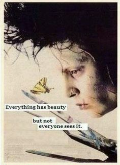 """One of my daughter's favorite movies that opens the heart to those that """"are different"""" *reposted from Post Secret Cards (Like the Needs Art Cards Intervention I do at work). Tim Burton Frases, Movie Quotes, Life Quotes, Johnny Depp Quotes, Tim Burton Films, Johny Depp, Post Secret, Secret Love, Beautiful Words"""
