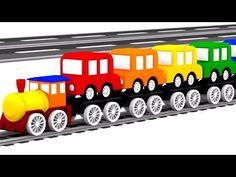 3D музыкальный мультфильм 4 машинки. Детские песенки - Песенки про машинки! Учим цвета Радуги. - YouTube