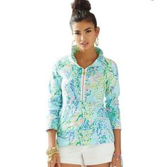 DISO Lilly Pulitzer Blue Heaven popover - M or L!! I purchased this online from C Orrico before the sale only to have someone call me and say their inventory was way off and they don't actually have this. Took them a week to call but they sure took my money real fast! So because of their mistake I missed out on getting this before the sale from another site :( very upset by this! I am looking to spend maybe $125-150. Help!!!! Lilly Pulitzer Tops