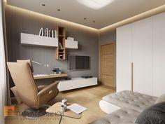 Фото: Интерьер кабинета - Интерьер дома в современном стиле, коттеджный поселок «Небо», 272 кв.м.