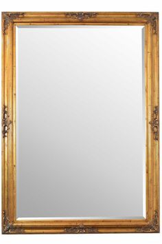 Large Antique Style Gold Big Wall Mirror Rectangle 6Ft10 X 4Ft10 207cm X 146cm - Everything Mirror Ltd