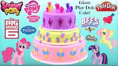 HUGE My Little Pony Play Doh Cake - Surprise Toys BFFS, Shopkins, Squish...